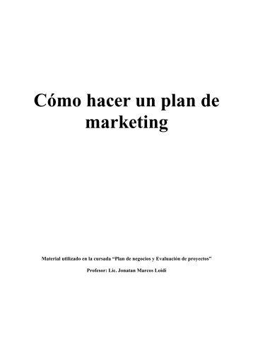 Cómo hacer un plan de marketing