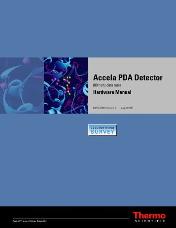 Accela PDA Detector (80 Hz) Hardware Manual