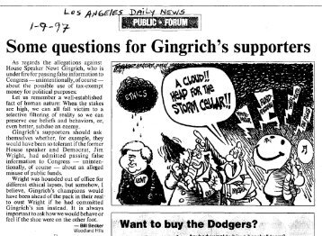 for Gingrich's