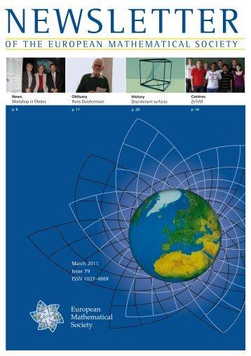 Bulletin of Mathematical Sciences - European Mathematical Society ...