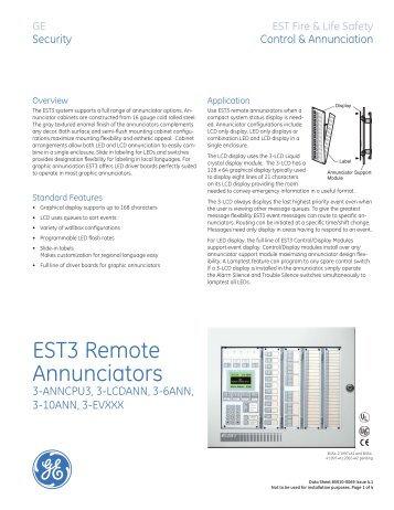 est3 remote annunciators edwards utcfs