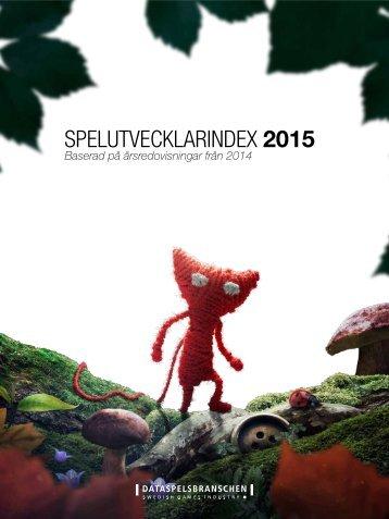 SPELUTVECKLARINDEX 2015