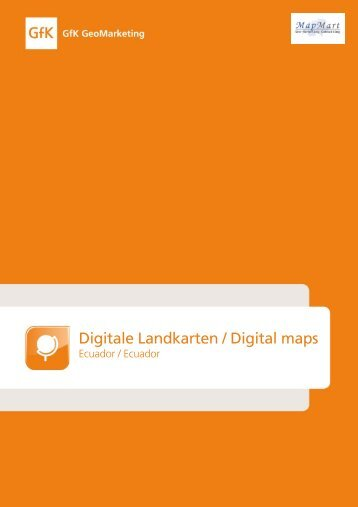 Digitale Landkarten / Digital maps