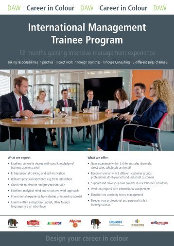A management trainee is an individual who undergoes training for managerial or supervisory positions. A management trainee program is the best way to prepare employees to .