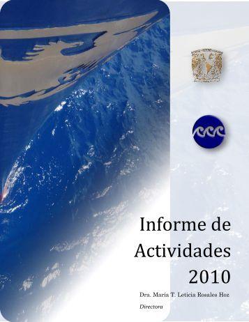Informe de Actividades 2010 - Instituto de Ciencias del Mar y ...