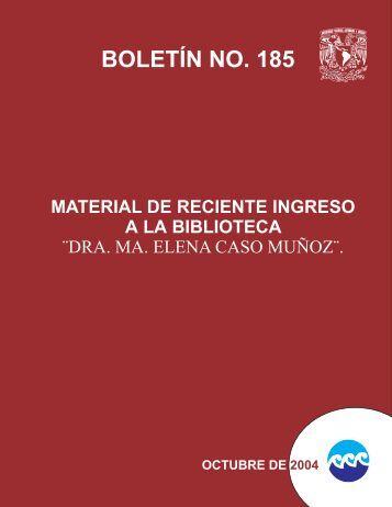 BOLETIN185-OCTUBRE DE 2004 - Instituto de Ciencias del Mar y ...