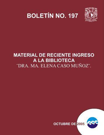 BOLETÍN NO. 197 - Instituto de Ciencias del Mar y Limnología