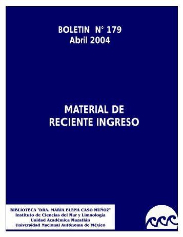 MATERIAL DE RECIENTE INGRESO