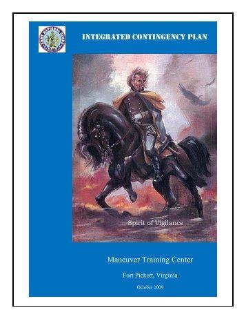 INTEGRATED CONTINGENCY PLAN Maneuver Training Center