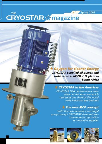 Oxygen for cleaner Energy - Cryostar