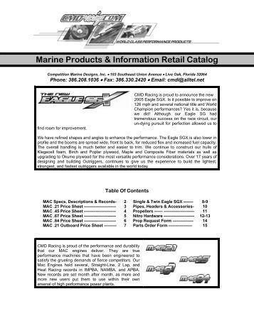 Marine Products & Information Retail Catalog