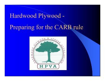 Hardwood Plywood - Preparing for the CARB rule
