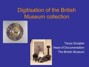 Digitisation of the British Museum collection