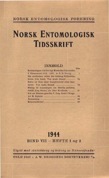 og Nord-Florge (WxM cm) - Norsk entomologisk forening