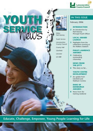 Youth Service News Issue 1 - Leicestershire County Council