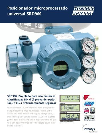 Posicionador microprocessado universal SRD960 - Invensys
