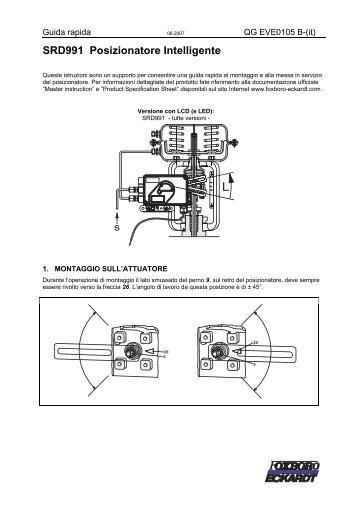 SRD991 Posizionatore Intelligente - Foxboro Eckardt