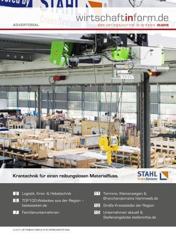 Logistik, Kran- & Hebetechnik| wirtschaftinform.de 10.2015