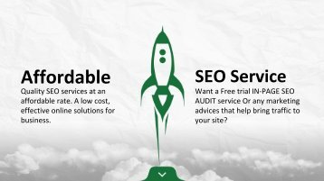 Try our free SEO report tool to analyze your site