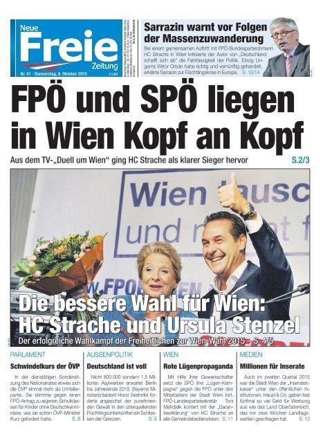FPÖ und SPÖ liegen in Wien Kopf an Kopf