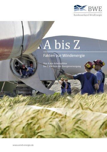 A-Z - Fakten zur Windenergie