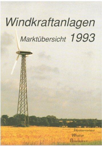 Jahrbuch Windenergie 1993 - BWE Marktübersicht