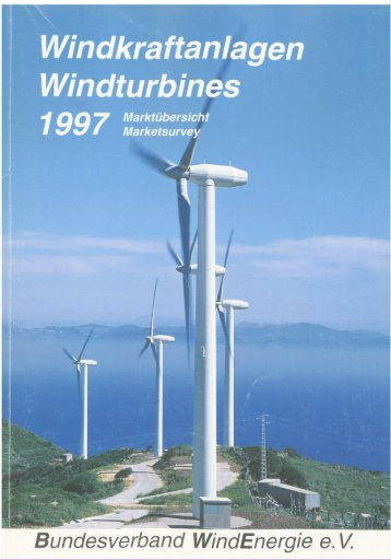 Jahrbuch Windenergie 1997 - BWE Marktübersicht