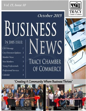"October 2015 ""Creating A Community Where Business Thrives"""