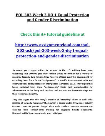 discrimination and equal protection It is much more difficult for older workers to prevail in federal discrimination lawsuits than for victims of race, sex, national origin, color and religion.