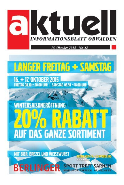 Aktuell Obwalden 42-2015
