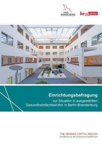 Einrichtungsbefragung zur Situation in ausgewählten Gesundheitsfachberufen in Berlin-Brandenburg