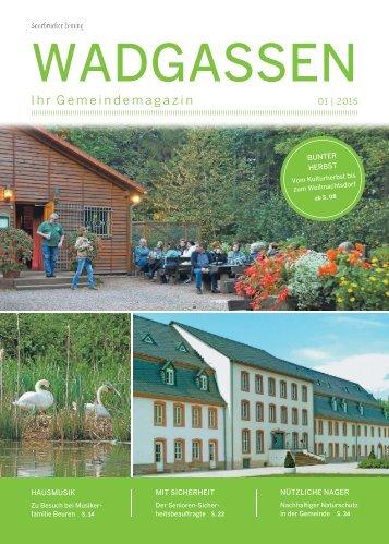 Gemeindemagazin Wadgassen 01|2015