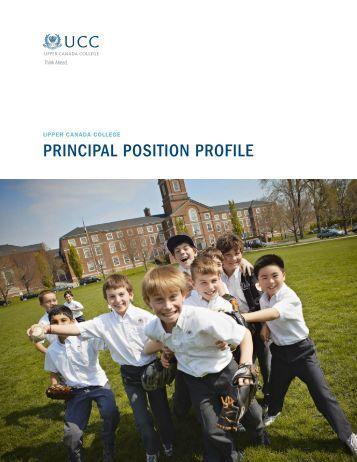 PRINCIPAL POSITION PROFILE
