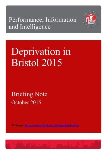Deprivation in Bristol 2015