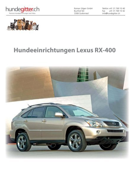 Lexus_RX-400_Hundeeinrichtungen