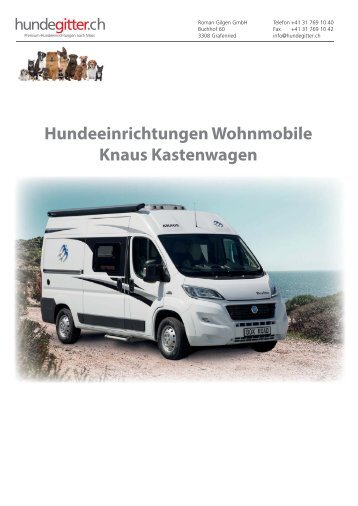 Hundeeinrichtungen_Wohnmobile_Knaus_Kastenwagen