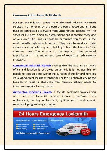 Commercial Locksmith Hialeah