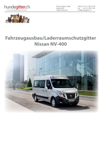 Nissan_NV400_Fahrzeugausbau_Laderaumschutzgitter