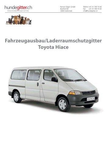 Toyota_Hiace_Fahrzeugausbau_Laderaumschutzgitter
