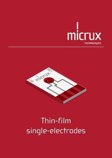 Download brochure - MicruX Technologies