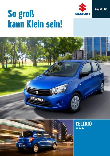 CELERIO Modellprospekt