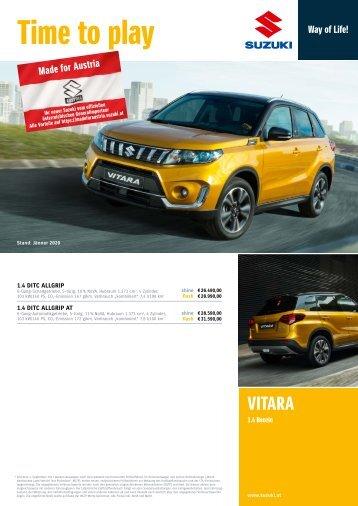 VITARA Preis- und Ausstattungsliste
