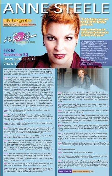 LIVE Magazine Interviews Anne Steele