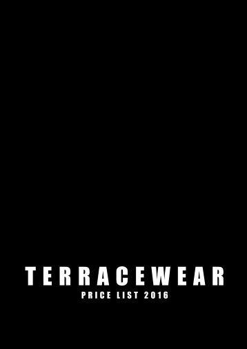 TERRACEWEAR PRICE LIST - FOOTBALL