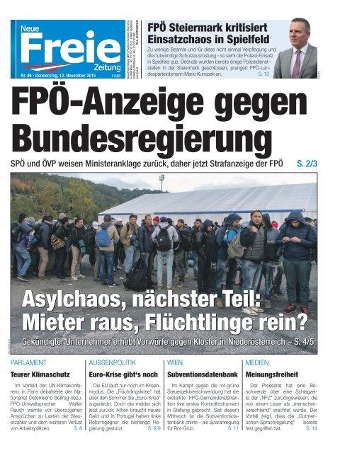 FPÖ-Anzeige gegen Bundesregierung