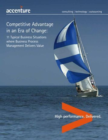 Competitive Advantage in an Era of Change: