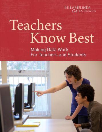 Teachers Know Best