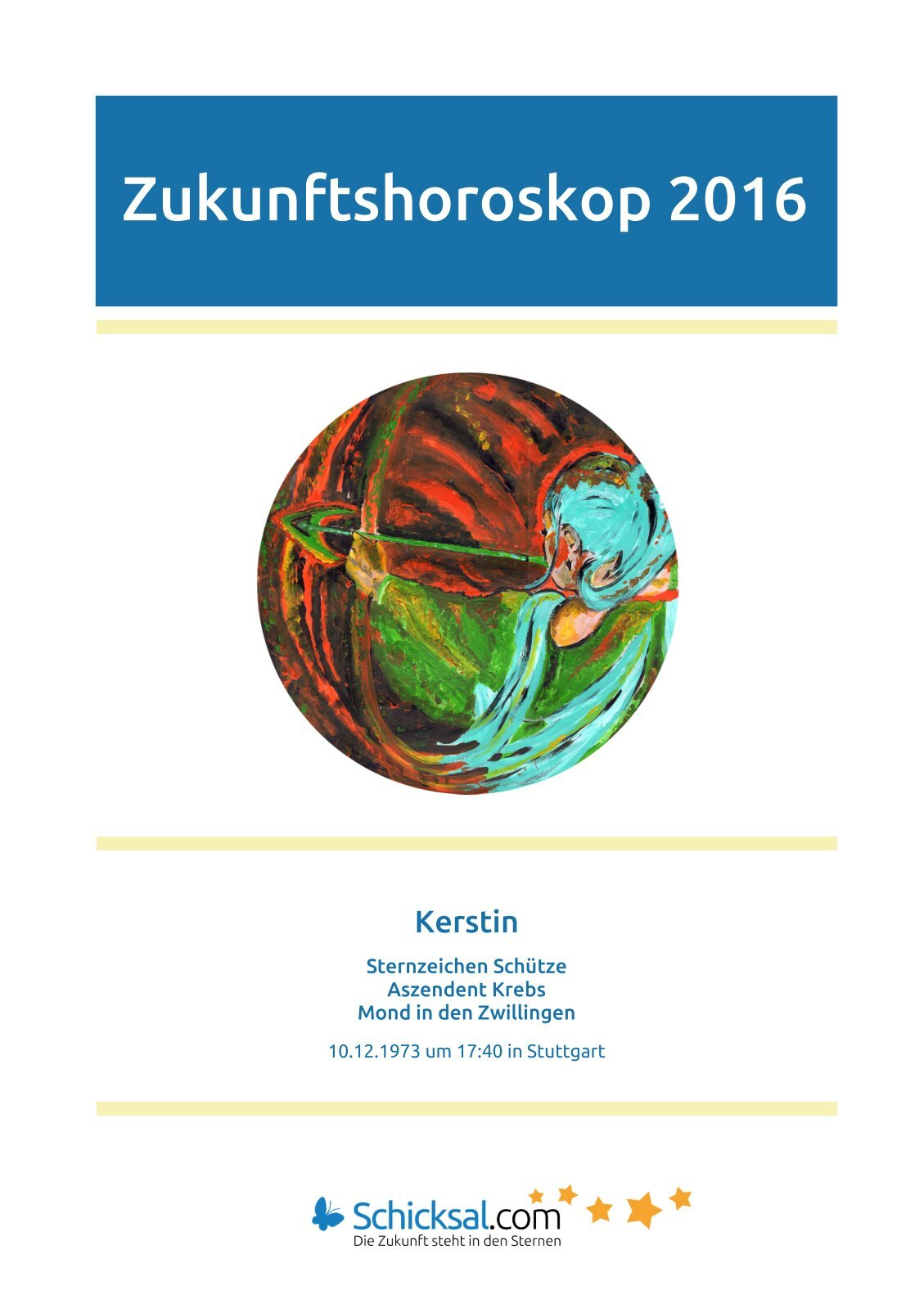 Schütze – Zukunftshoroskop 2016