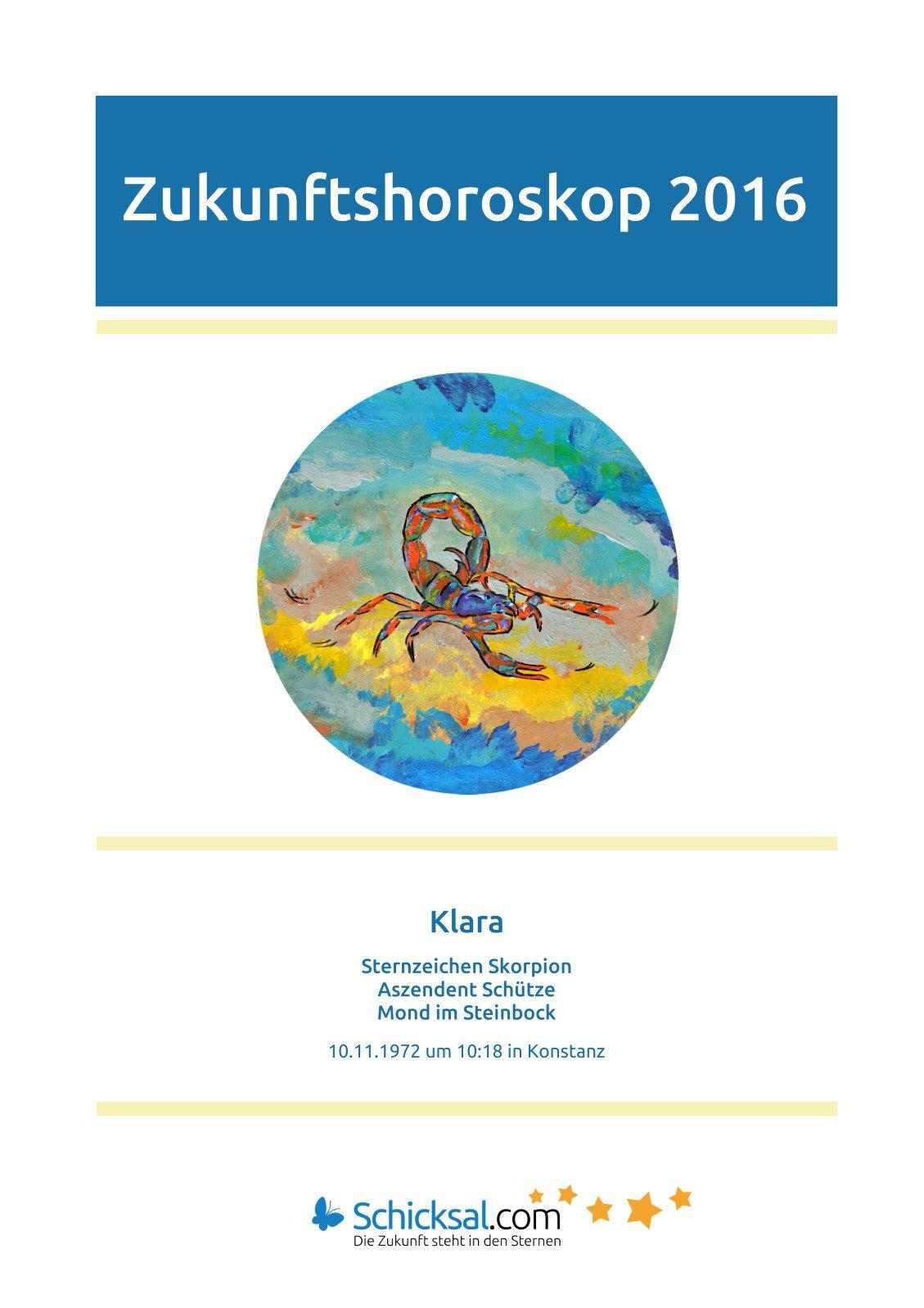 Skorpion – Zukunftshoroskop 2016