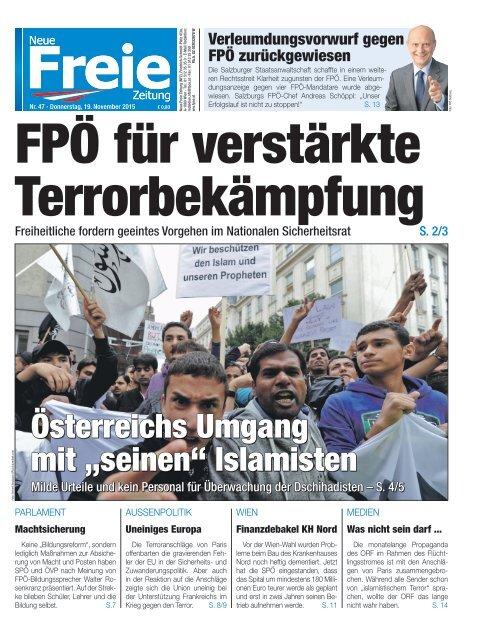 FPÖ für verstärkte Terrorbekämpfung